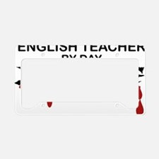 English Teacher Zombie License Plate Holder