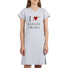 i love Barack Obama heart Women's Nightshirt