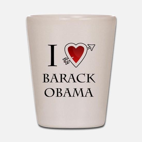 i love Barack Obama heart Shot Glass