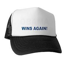 Obama Wins in white Trucker Hat