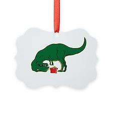 T-rex hates Christmas Ornament