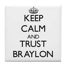 Keep Calm and TRUST Braylon Tile Coaster