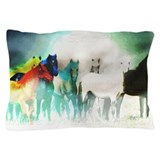 7 horses Pillow Cases