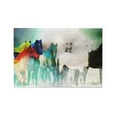 7 Seven Horses Rectangle Magnet