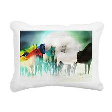 7 Seven Horses Rectangular Canvas Pillow