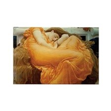 Flaming June Rectangle Magnet