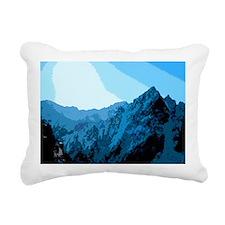 Sun on Mountains Rectangular Canvas Pillow
