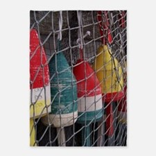 Netted Lobster Buoys 5'x7'Area Rug
