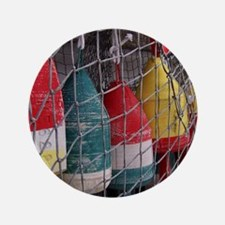 """Netted Lobster Buoys 3.5"""" Button"""