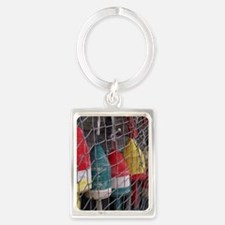 Netted Lobster Buoys Portrait Keychain