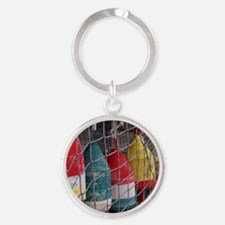 Netted Lobster Buoys Round Keychain