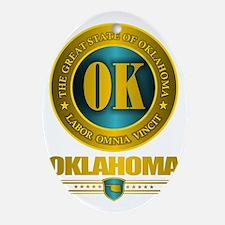 Oklahoma Gold Label Oval Ornament