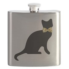 Bow tie Cat Flask