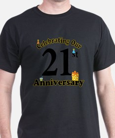 21st Anniversary Party Gif T-Shirt
