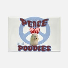 PEACE LOVE and POODLES B3 Rectangle Magnet