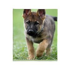 German Shepherd dog puppy Throw Blanket