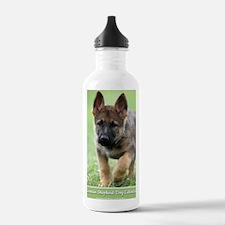 German Shepherd dog pu Water Bottle