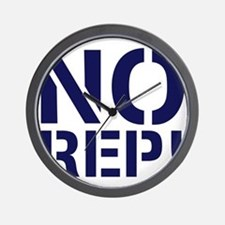 No Rep Wall Clock