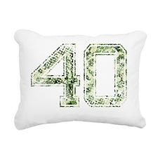 40, Vintage Camo Rectangular Canvas Pillow