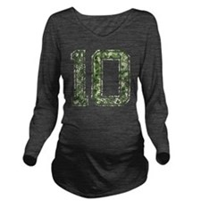 10, Vintage Camo Long Sleeve Maternity T-Shirt