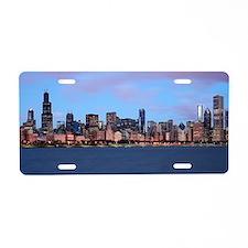 Morning Skyline Aluminum License Plate