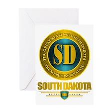 South Dakota Gold Label Greeting Card