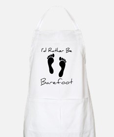 Id Rather Be Barefoot Apron