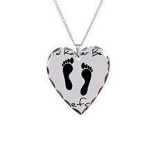 Id Rather Be Barefoot Necklace Heart Charm