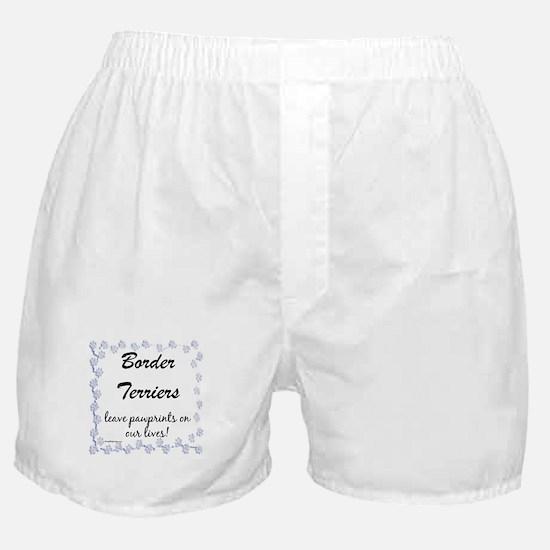 Border Terrier Pawprints Boxer Shorts