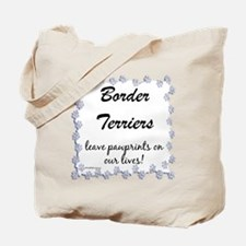 Border Terrier Pawprints Tote Bag