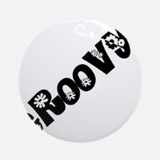 Groovy Round Ornament