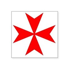 "redcrossmaltese Square Sticker 3"" x 3"""