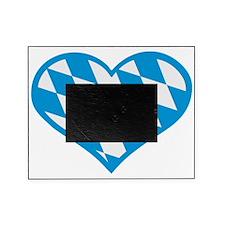 Bavaria heart flag Picture Frame