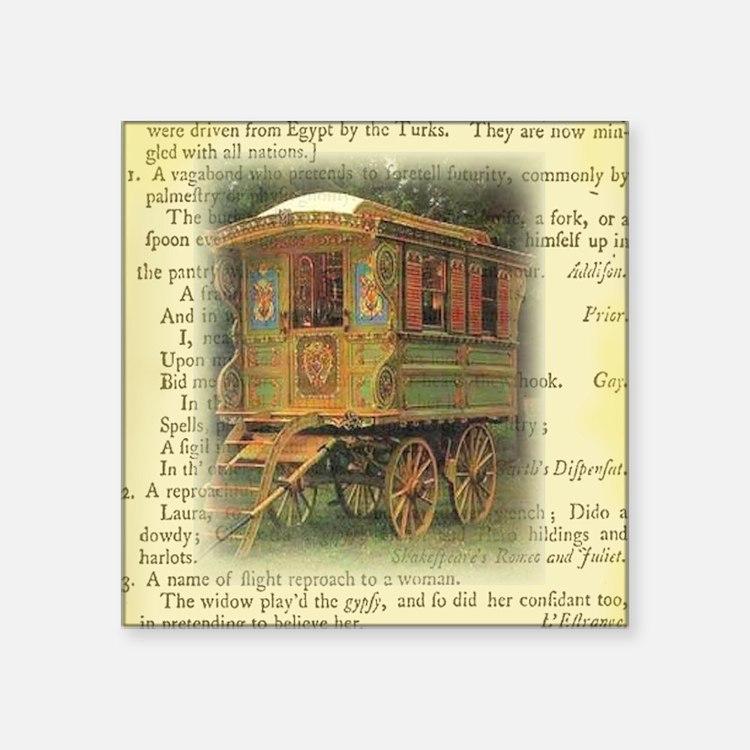 "gypsy wagon 2 Square Sticker 3"" x 3"""