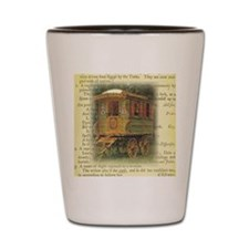 gypsy wagon 2 Shot Glass