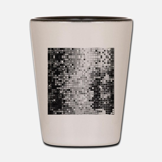 Disco Mirrors in Black and White Shot Glass