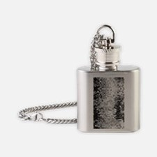 Disco Mirrors in Black and White Flask Necklace