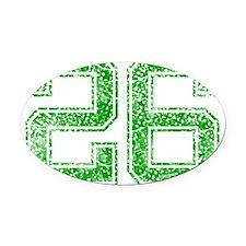 26, Green, Vintage Oval Car Magnet