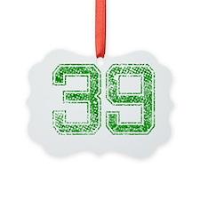 39, Green, Vintage Ornament