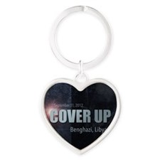Benghazi Cover Up Heart Keychain
