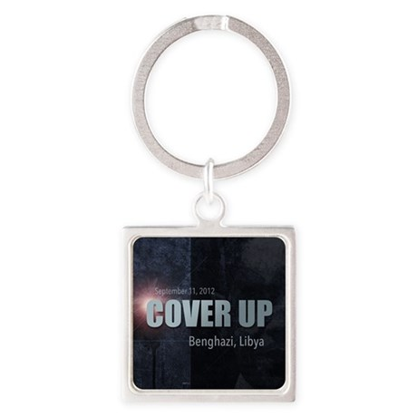 Benghazi Cover Up Square Keychain