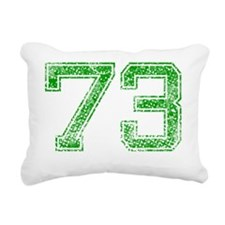 73, Green, Vintage Rectangular Canvas Pillow