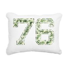 76, Vintage Camo Rectangular Canvas Pillow