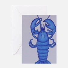 BLUE LOBSTER Greeting Card