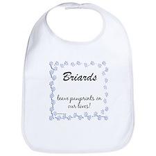 Briard Pawprints Bib