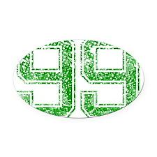99, Green, Vintage Oval Car Magnet