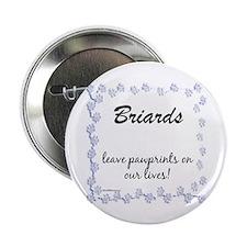 Briard Pawprints Button