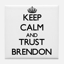 Keep Calm and TRUST Brendon Tile Coaster