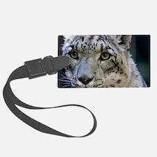 Snow leopard Luggage Tag