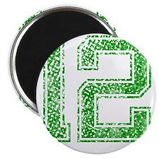 12, Green, Vintage Magnet